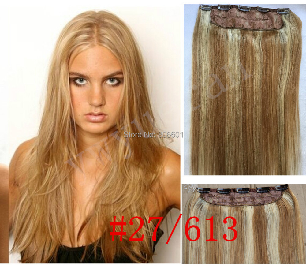 27613 mix blonde one piece 5 clips in 100 brazilian virgin human 27613 mix blonde one piece 5 clips in 100 brazilian virgin human hair extensions 18 32 inch 1pcs 70g 80g 100g 120g 140g 160g on aliexpress alibaba pmusecretfo Images