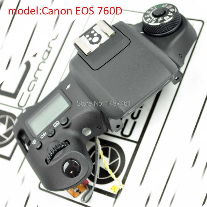 New original Top cover assembly with Shoulder Control panel and button parts for Canon EOS 760D Kiss 8000D;Rebel T6S SLR new original lcd display screen for canon eos 750d ds126571 kiss x8i rebel t6i mini slr with backlight and outer touch screen