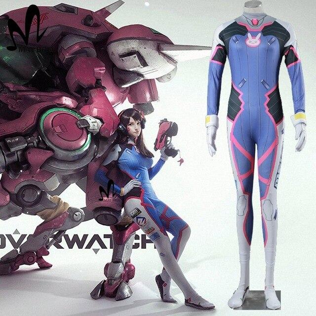 """3D spausdinimas D.VA kūno sudėjimo halloween cosplay dva Zentai """"Catsuit Spandex"""" kostiumai"""