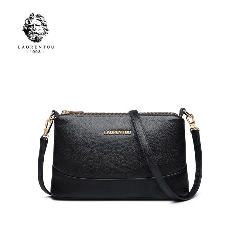 LAORENTOU 2019 New Brand Genuine Leather women bags Simple Fashion  Quality women leather shoulder messenger bagLAORENTOU 2019 New Brand Genuine Leather women bags Simple Fashion  Quality women leather shoulder messenger bag