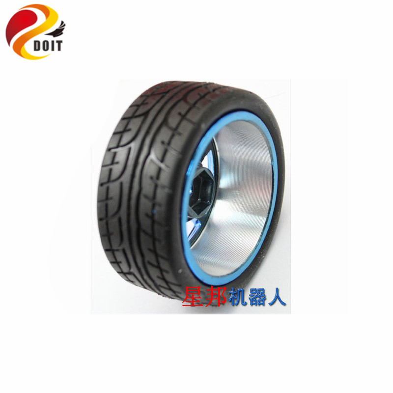 DOIT Metal Car Wheel Hub 65mm Tire for RC Car Chassis Remote Control DIY Electronic Kit Toy official doit metal wheel hub for aluminum alloy robot 65mm tire rc car chassis diy kit remote control diy electronic kit toy