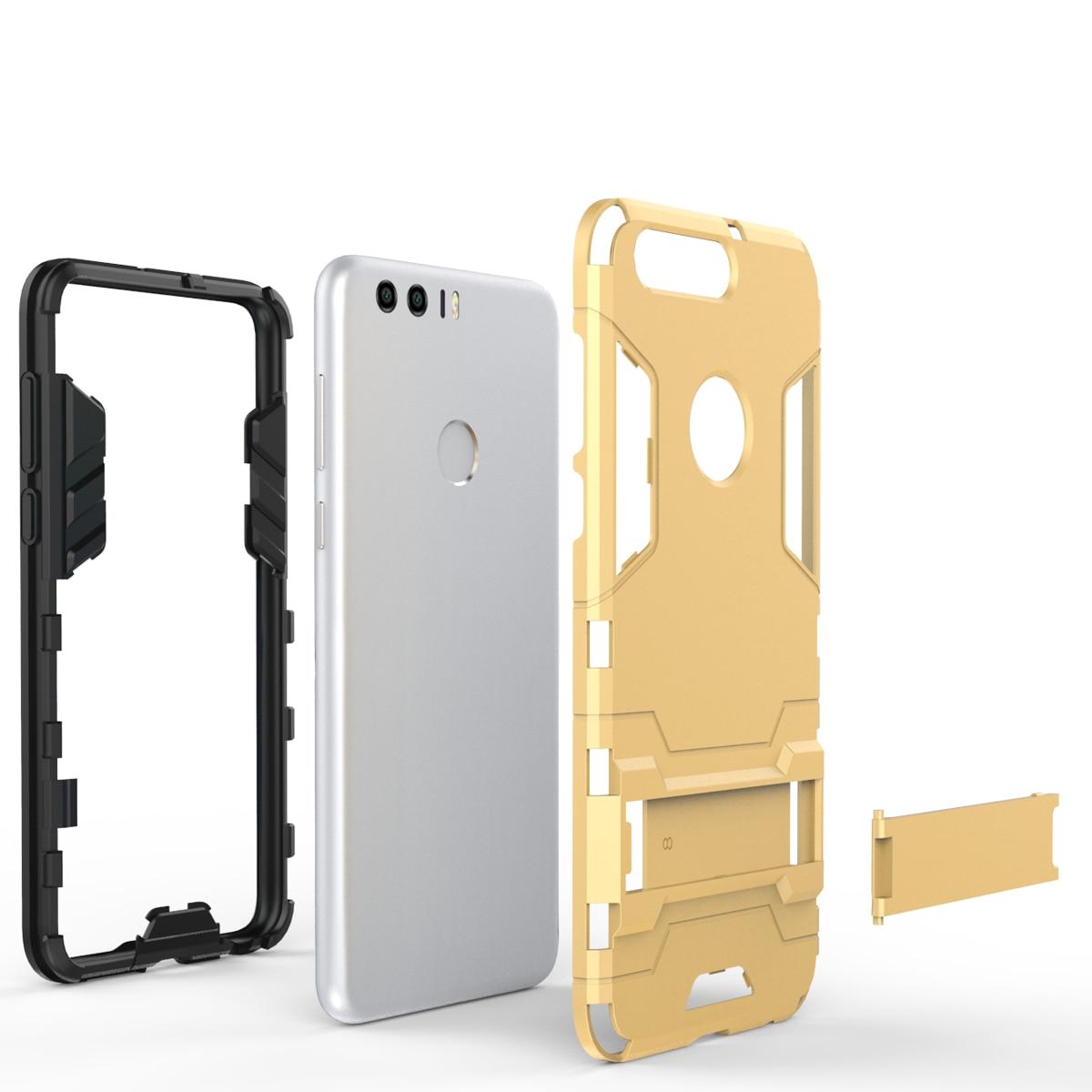 Per Huawei Honor Caso di 8 Heavy Duty Armatura Caso Duro Ibrido Robusta Gomma di Silicone Della Copertura Del Telefono Per Huawei Honor 8 5.2 pollici (
