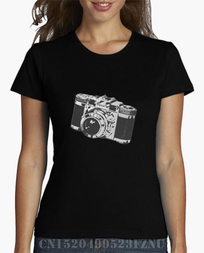 Summer Panic buying womens t shirt Old camera Short sleeves Novelty Knitted funny Design High Quality