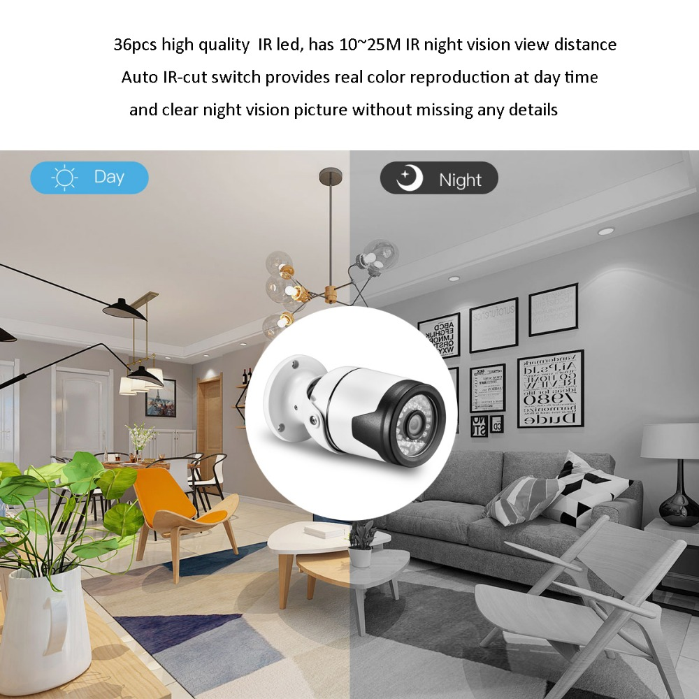 "Image 4 - AZISHN H.265+ 4MP 2560*1440 Metal IP Camera XM530AI+1/2.7"" SC5239 sensor 36IR Onvif P2P Motion Detection RTSP CCTV Outdoor XMEye-in Surveillance Cameras from Security & Protection"