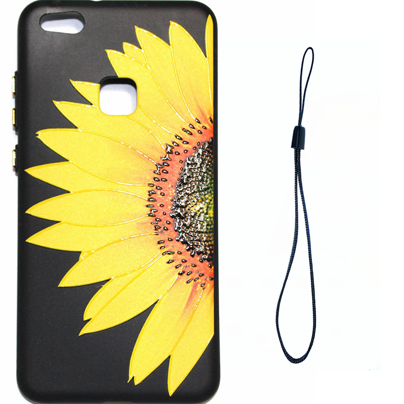 3D Relief flower silicone huawei P10 lite (1)