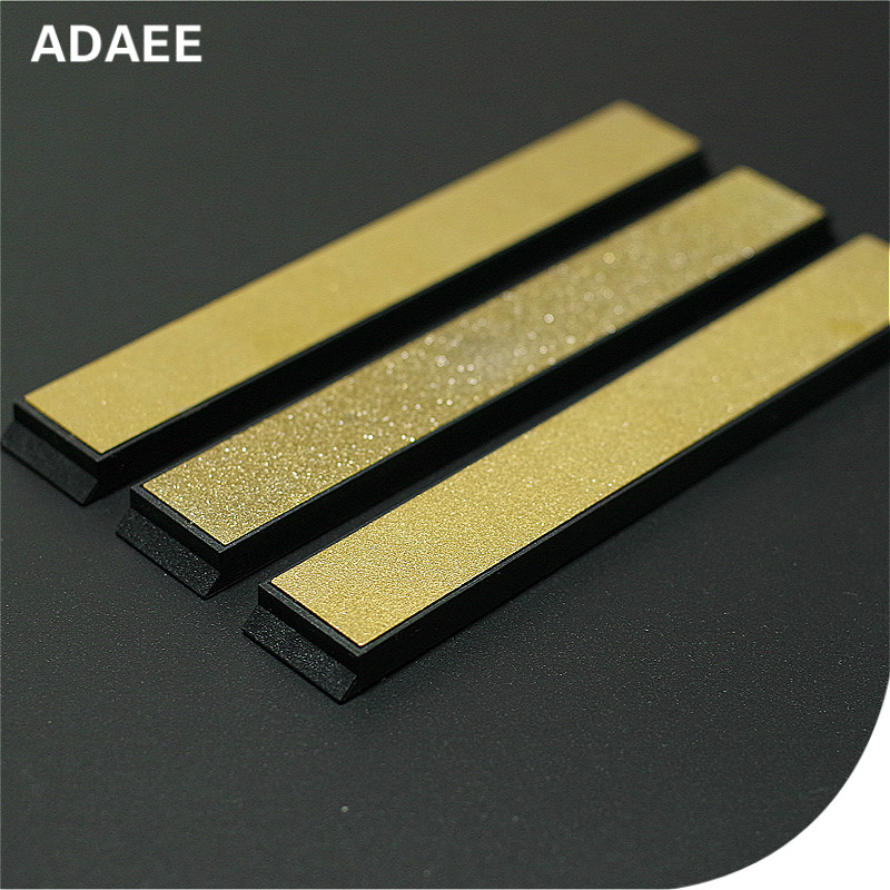 Adaee 3 pieces Set Titanium Diamond <font><b>Sharpening</b></font> <font><b>Stone</b></font> For Pencil Sharpener 240 <font><b>600</b></font> <font><b>1000</b></font> Grit 5.9*0.8*0.2 image