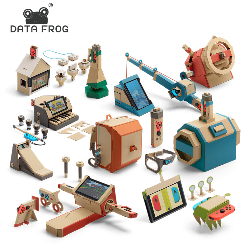 Data Frog DIY Cardboard For Nintendo Switch Labo Bracke Paper Suit DIY Case For NS Console Joy-Con Controller Gaming