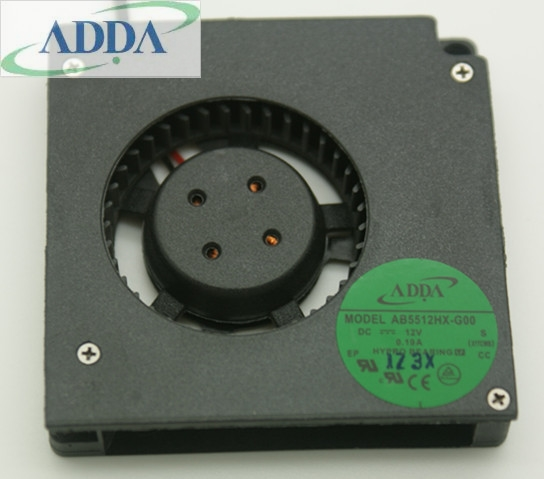 ADDA AB5512HX-G00 DC12V 0.19A Blower fan Server Soyutma fanı 5.5cm 2 tel