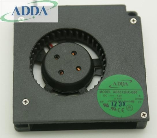 ADDA AB5512HX-G00 DC12V 0.19A Blower fan Server Cooling Fan 5.5cm 2-wire
