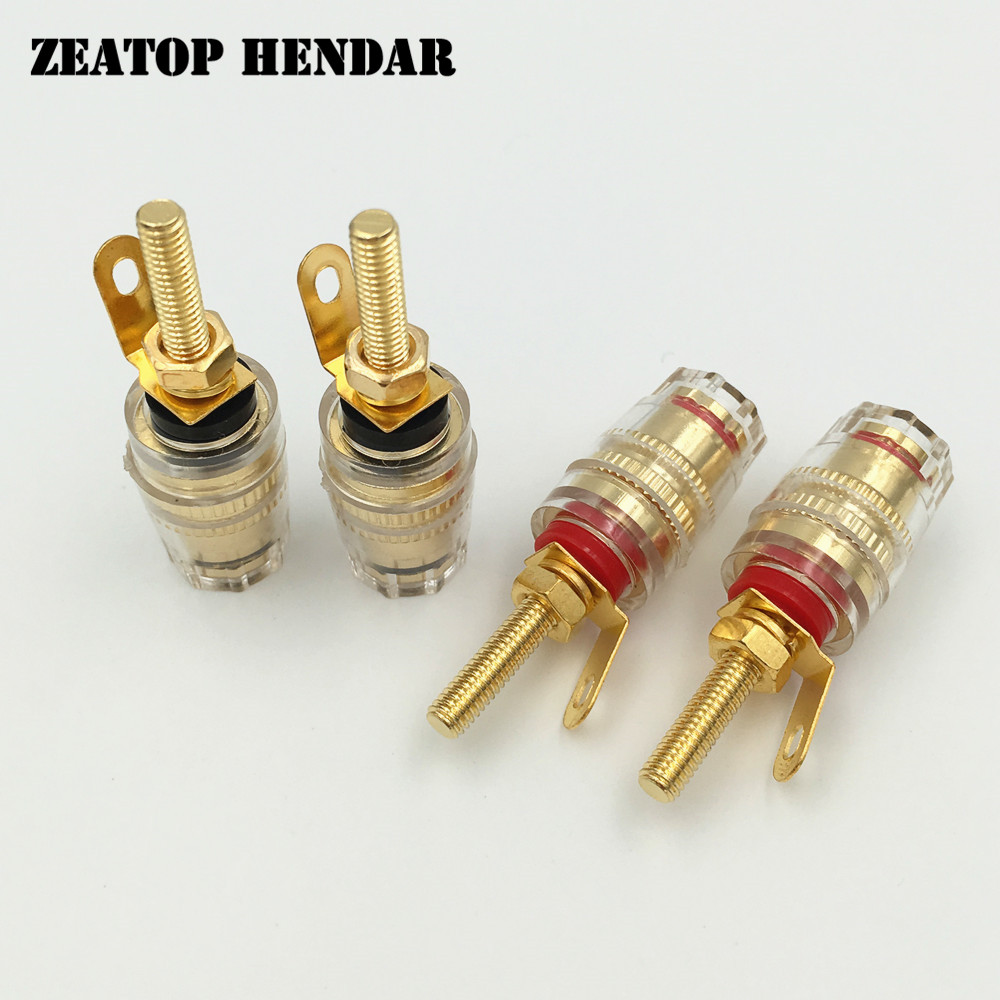 8Pcs High Quality Binding Post Banana Plugs For Amplifier