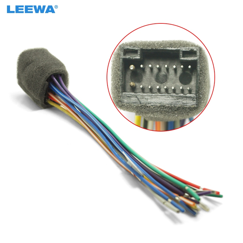 US $2.12 29% OFF|LEEWA Car Radio Stereo Wire Harness Plug Cable For on