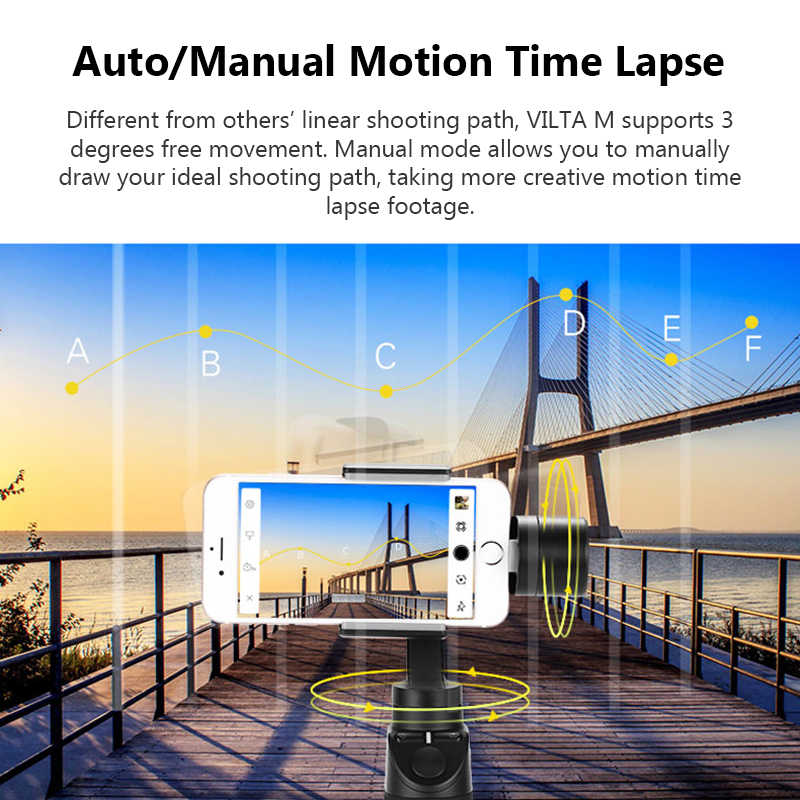 Freevision Vilta m 3-axis Handheld Gimbal Stabilizer for Huawei P20 Pro  OPPO Xiaomi iPhone X XS samsung s9 s8 GoPro HERO5/4/3