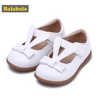 Balabala Princess Child Girls Shoes Childlike Fashion Girls Cartoon Rabbit Ear Bow Design Soft Breathable Healthy Shoes Foot Pro