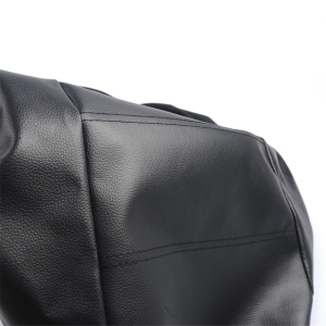 Image 4 - 2pcs Black PU Leather Car Seat Cover for All Car SUV Truck Car Seat Protector Airbag Compatible