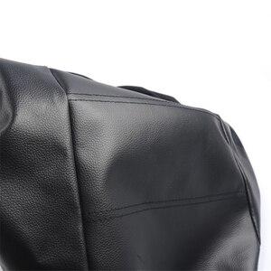 Image 4 - 2pcs שחור עור מפוצל רכב מושב כיסוי עבור כל רכב Suv משאית לרכב מושב מגן כרית אוויר תואם