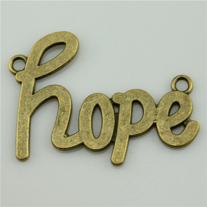 Free Shipping 10Pcs big hope Charms 48*33mm Antique Bronze plated DIY Retro Jewelry Braclet Necklace
