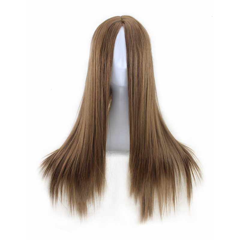 QQXCAIW для женщин длинные прямые косплэй Natrual черный светло коричневый темно коричневый 70 см синтетические волосы Искусственные парики