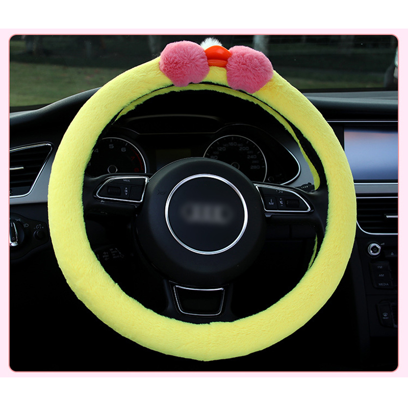 Reliable 1 Pc Funny Plush Cartoon Animal Car Steering Covers Winter 38cm Cute Animal Warm Steering Covers Case Car Accessories Sheep Duck Bright In Colour