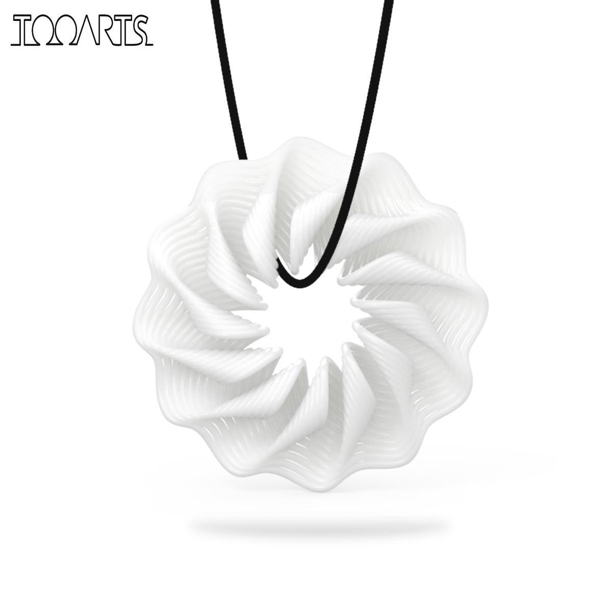 Tooarts Tomfeel 3D-tryckta smycken Rhythm Elegant Modeling Hänge - Heminredning - Foto 1