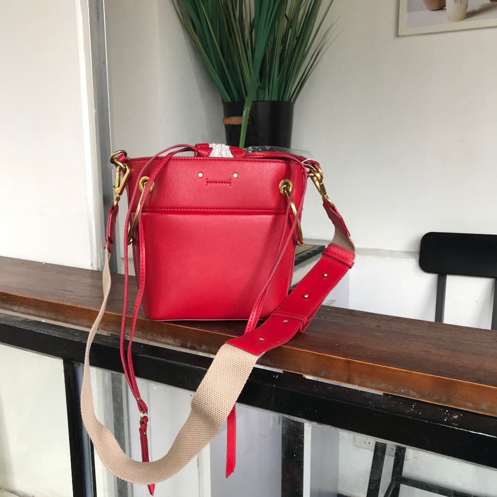 Kafunila 2018 new arrival designer genuine leather embroidery bucket bags famous brand cow leather crossbody shoulder bag bolsa new arrival genuine leather ipad bag men cow leather handbags famous brand designer cowhide briefcase shoulder bags bolsa
