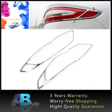 4pcs ABS Chrome Rear Tail Light Lamp Cover Trim For Ford Mondeo Fusion 2013 2014 2015  Car Styling accessories high quality car styling cover abs chrome rear tail fog light trim frame accessories for subaru xv 2012 2013 2014 2015 2016 2pc