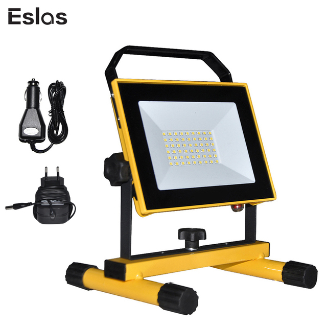 Eslas LED Work Light Rechargeable Portable Spotlight Outdoor Emergency Hand Work Lamp IP65 Waterproof Light for Camping Garden