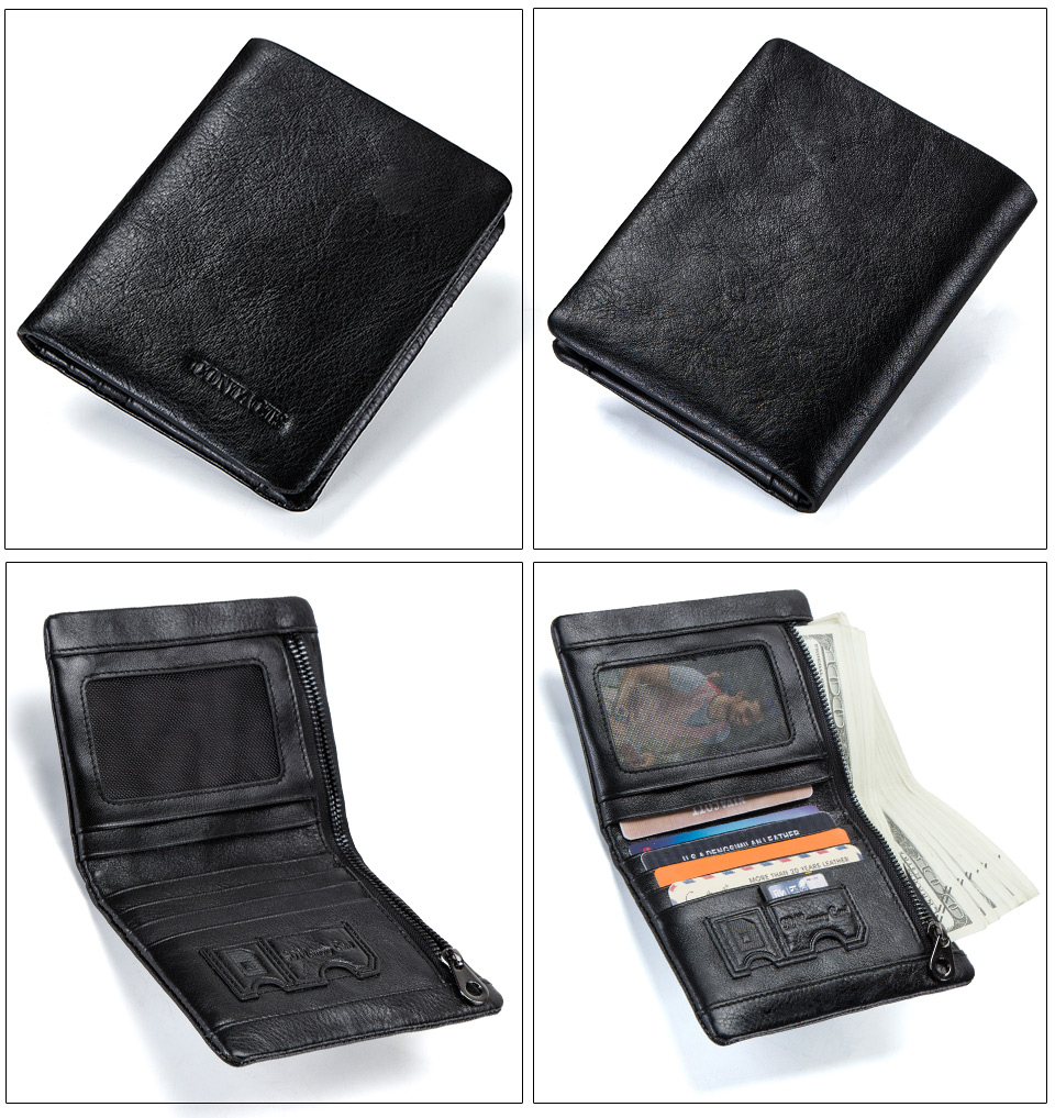 50851121aa7e Men's Wallets Genuine Leather Wallet For Man Credit Card Holder ...