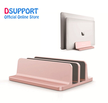 Vertical Laptop Stand 2 in 1 Design Desktop Space Saving Holder Thickness Adjustable Dock Suit for All MacBook/Surface/Samsung space saving aluminum vertical stand for laptop macbook pro air thickness adjustable desktop notebooks holder erected