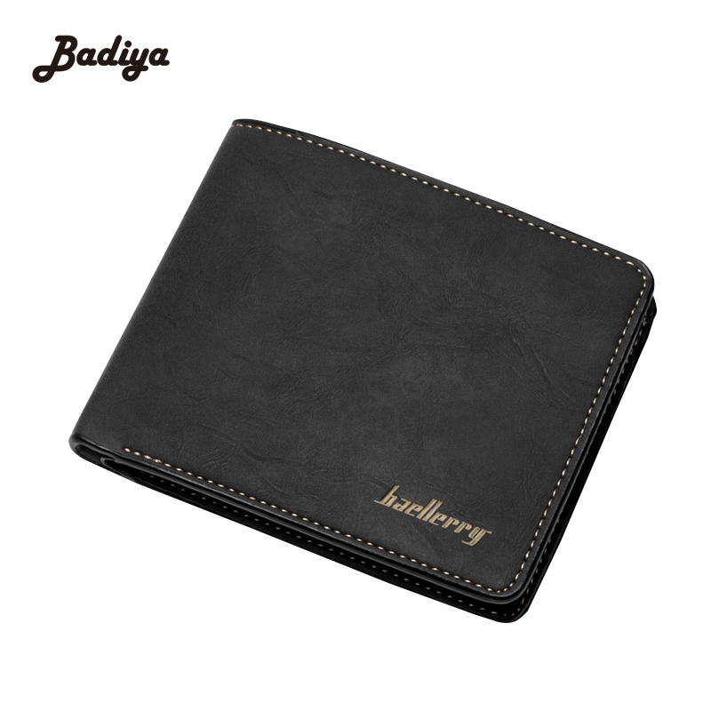 Vintage Money Bags Soft Matte Young Mens Wallet Retro Korean Style Solid PU Leather Purse Card Holder For Man Male Carteira цена 2017