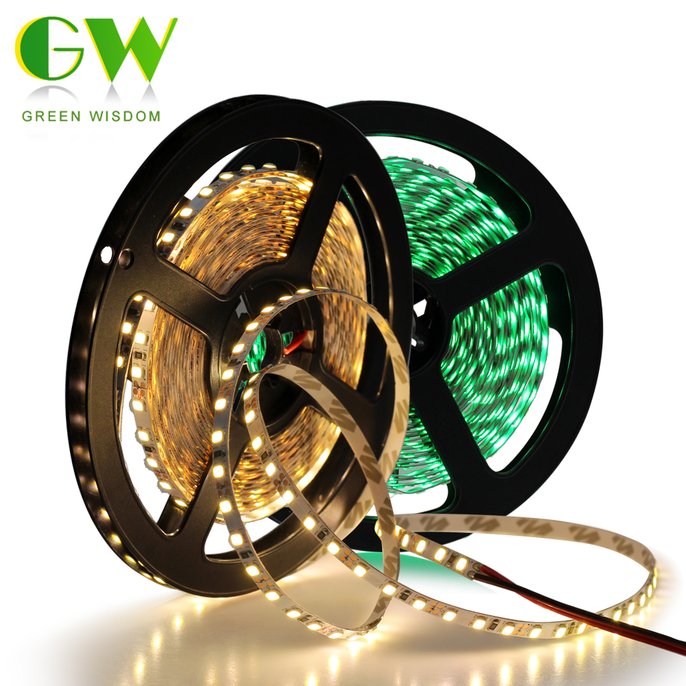 <font><b>4mm</b></font> Narrow Width DC12V <font><b>LED</b></font> Strip 2835 120LEDs/m 5M Flexible Strip Light White,Warm White,Blue,Green,Red image
