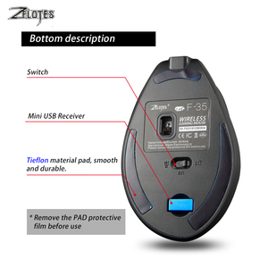 Image 5 - Mouse Raton Zelotes F 35 2.4GHz Vertical Wireless Rechargeable USB 2400DPI 6 Button Gaming Computer Mice  For Laptop PC
