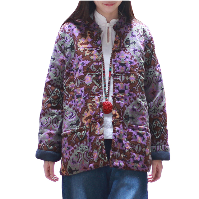 Женщины Утолщение Основной Топ Теплая Осень Зима Пальто Хлопка Проложенный Одежды Парки Твердые Верхняя Одежда Старинные WinterJacket Женщины
