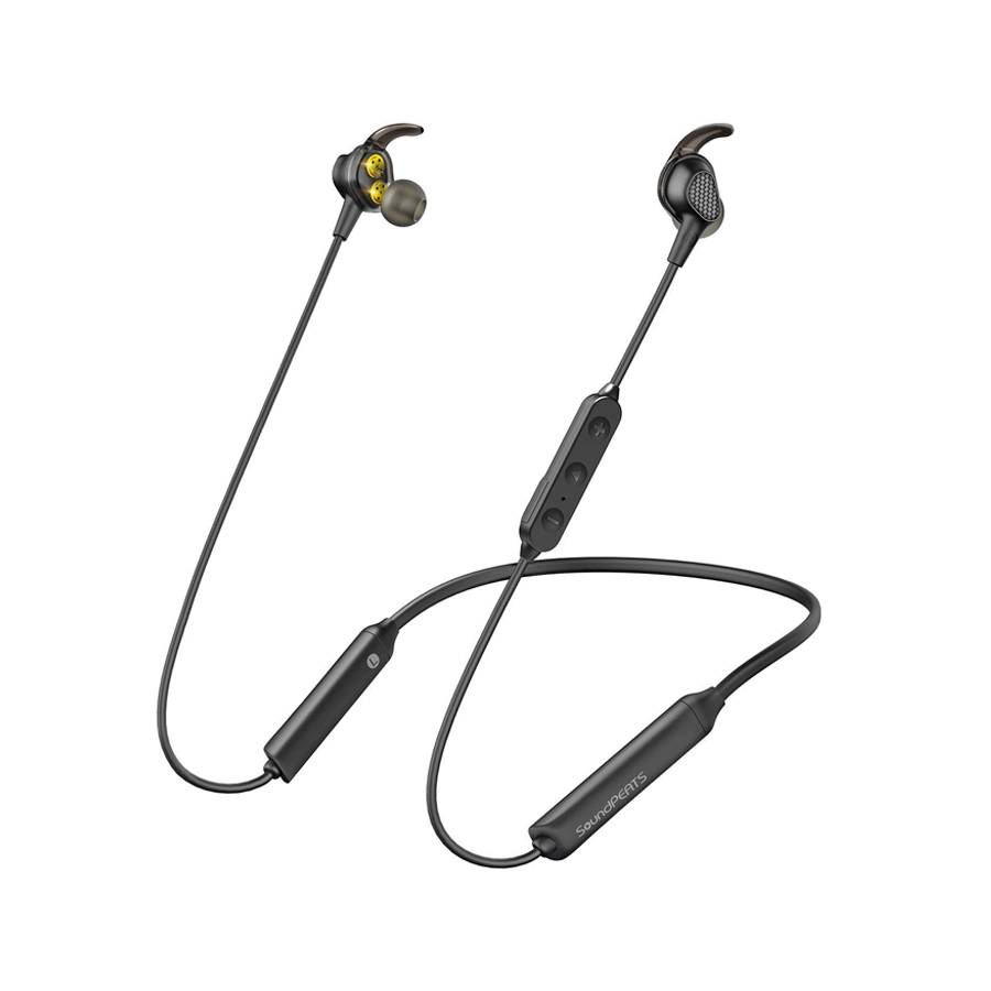 SoundPEATS Engine Bluetooth Wireless Earphones in Ear Neckband Dual Dynamic Drivers Earbuds Stereo Bass IPX6 Magnetic