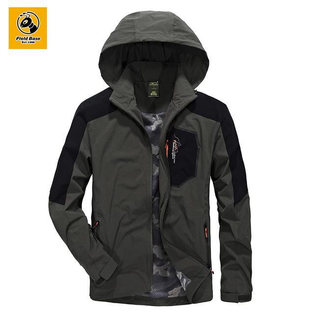 Field Base Nylon Windbreaker Jackets Men Outwear Men Slim Jacket Pattern Man Coat Autumn Spring Autumn Jacket Waterproof 4XL