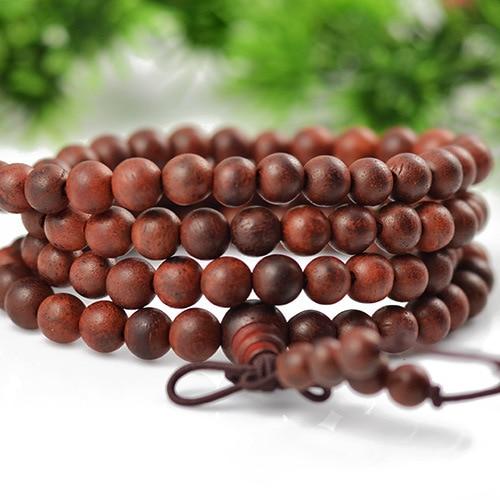 Indian Lobular red sandalwood beads bracelets hand jewelry meditation bracelets for women pulseras pulseira feminina new 0638