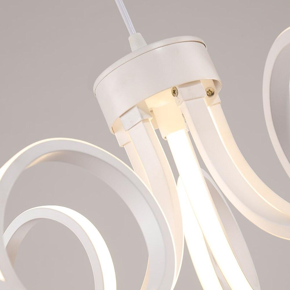 Lustres lustre lâmpada para quarto sala Material : Silica Gel + Aluminum