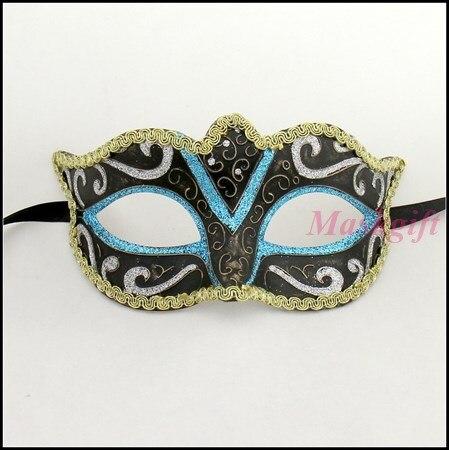 Пластиковая детская маска для Хэллоуина, Женская пластиковая маска, E002-LB-GSBK, Высококачественная популярная женская маска для вечеринки Хэллоуин, 144 шт