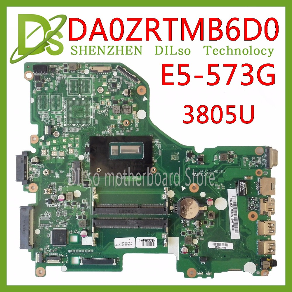 KEFU E5-573G Mainboard For Acer Aspire E5-573G E5-573 Motherboard 3805U CPU  DA0ZRTMB6D0 Test Work 100% Original