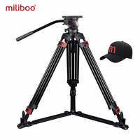 Miliboo Tragbare stativ MTT609A/B Aluminium/Carbon fiber professional video camcorder Stativ VS manfrotto stativ Heavy duty 15 KG