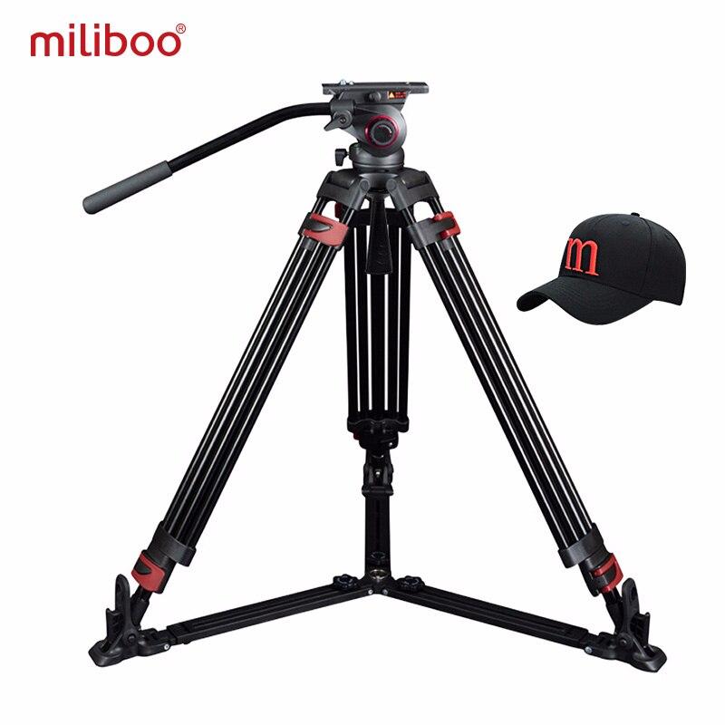 Miliboo tripé Portátil MTT609A/B Alumínio/câmara de vídeo De fibra de Carbono profissional Tripé VS manfrotto tripé Heavy duty 15 KG