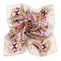 [LESIDA] bege Borboleta Padrão de Impressão Senhora Cachecol Foulard Mulheres Gaiter Pescoço de Cetim De Seda Liso Cabeça Lenço Bandana Meninas XF1020