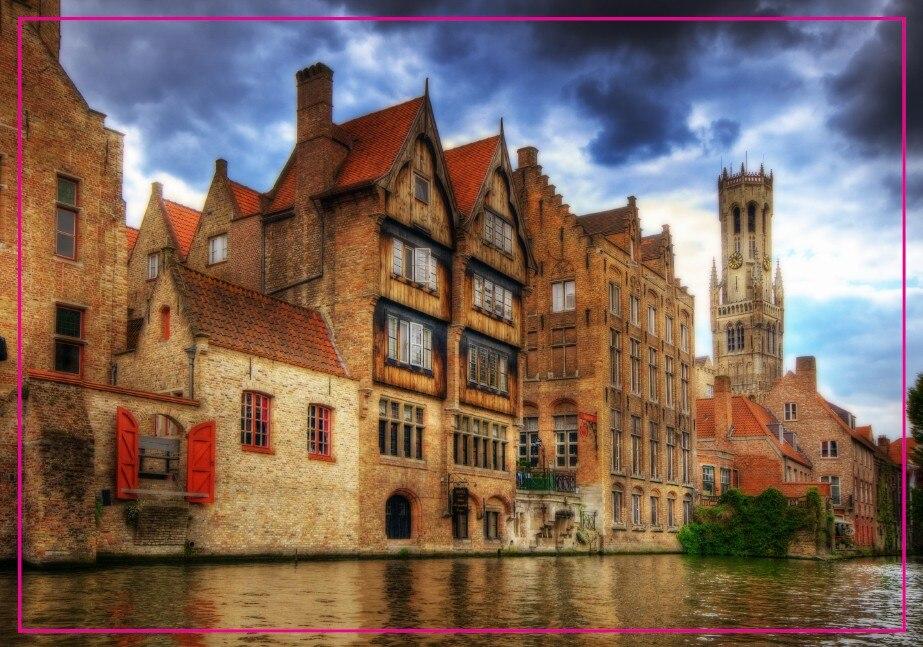 Decoration Gift Photo Magnets ,Belgium Bruges Souvenir Photo Fridge Magnet 5608 Travel Gift tourist attractions souvenir