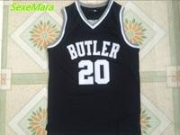 2018 New Mens Cheap Throwback Basketball Jerseys 20 Gordon Hayward Butler Bulldogs Black College Retro Basketball