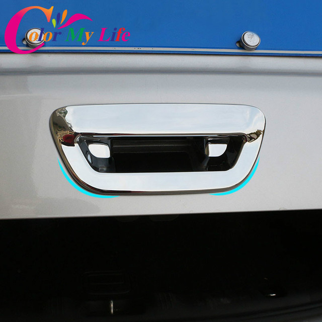 1Piece ABS Chrome Car Rear Trunk Door Handle Cover Back Trunk Door Bowl Covers Sticker For Jeep Compass 2017 2018 Accessories
