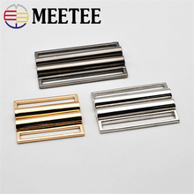 3pcs Meetee 40mm-60mm Metal Clip Buckles Sweater Coat Belt Buckle Buttons for Clothing Decor Hooks B1-31
