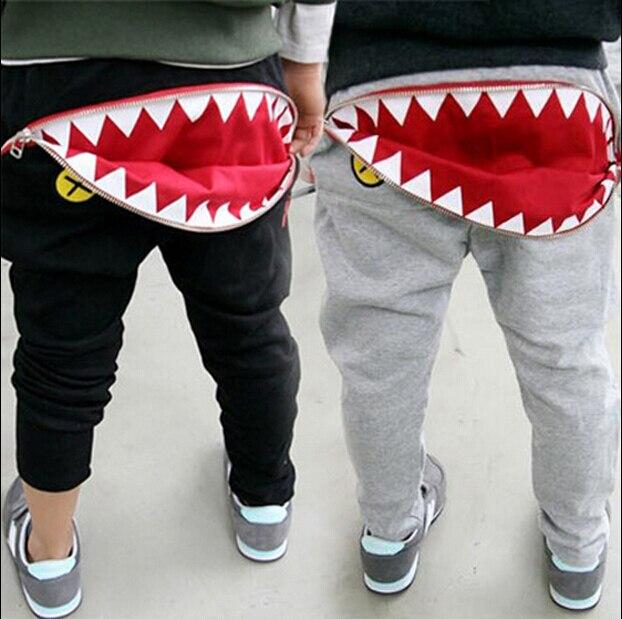 2016 winter children s clothing boys pants shark thicken fleece baby boy harem pants for boys