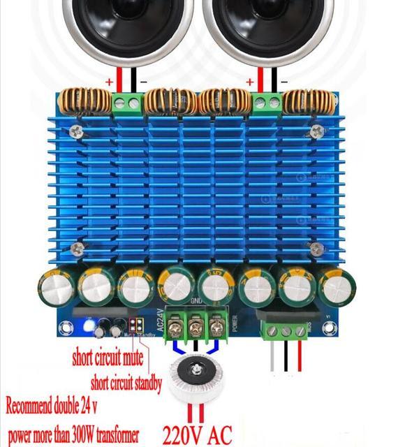 Placa de Amplificador de Audio Digital TDA8954 TH 420W + 420W, Amplificador estéreo clase D de doble canal