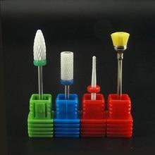 KIMAXCOLA Professional 4Pcs/set  white Ceramic Nail Bit For Art Electric Drill Manicure Machine Tools.