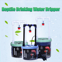 Plastic Reptiles Drinking Water Dripper 2W Lizard Snake Spiders Water Dispenser Terrarium Habitats Feeding Supplies 500/700ml