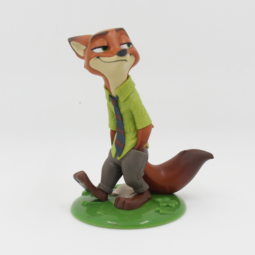 Zootopia Nick Figurines Toys 7.5cm PVC Fox Nick Action Figure Toys with Base Collectible Model Toy For Kids  funko pop zootopia fox nick 186 pvc action figure collectible model toy 10cm kt2247
